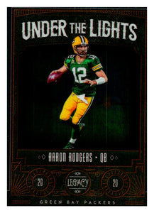 2020 Panini Legacy Chrome Under The Lights Aaron Rodgers Green Bay Packers