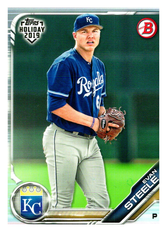 2019 Bowman Topps Holiday Evan Steele Kansas City Royals