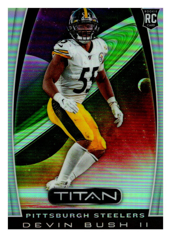 2019 Panini Chronicles Titan Devin Bush Rookie Card Pittsburgh Steelers