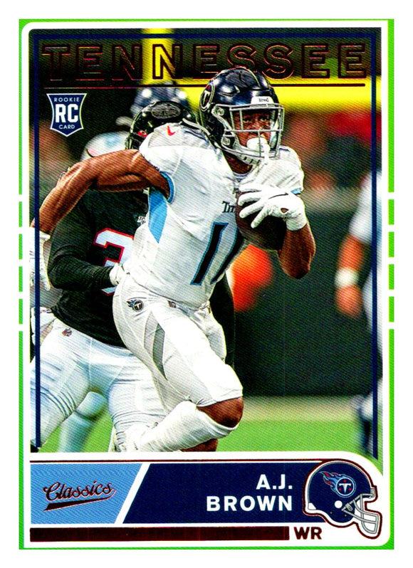 2019 Panini Chronicles Classics A.J. AJ Brown Rookie Card Tennessee Titans