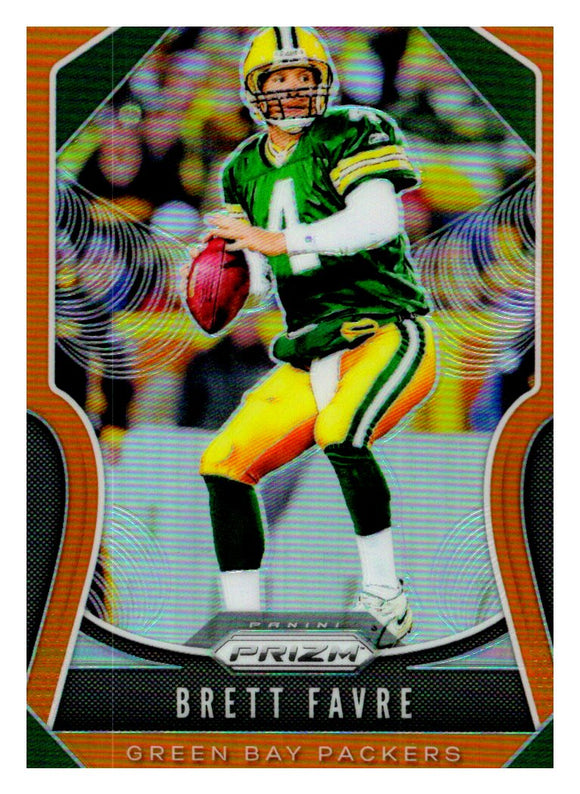 2019 Panini Prizm Orange Prizm /249 Brett Favre Green Bay Packers