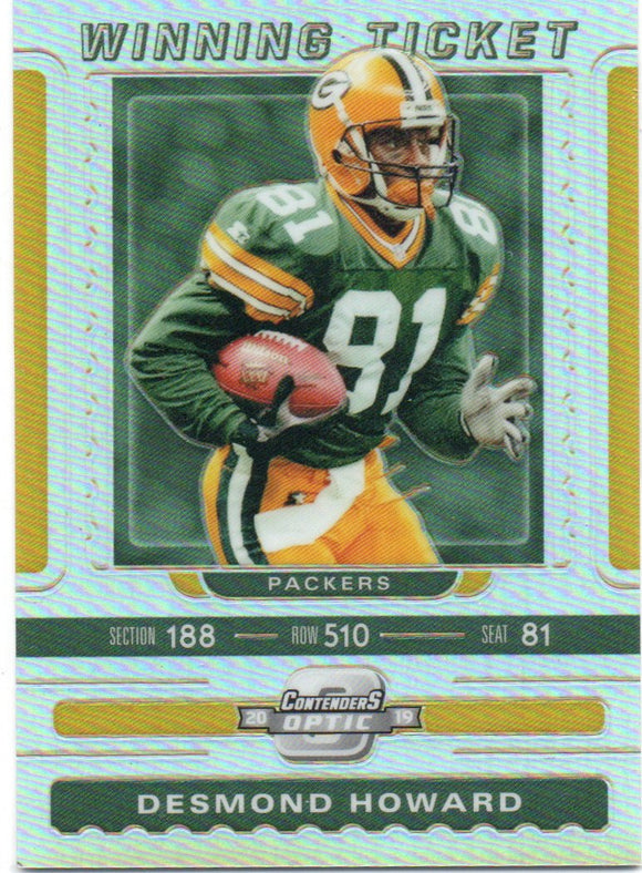 2019 Panini Contenders Optic Winning Ticket /165 Desmond Howard Green Bay Packers