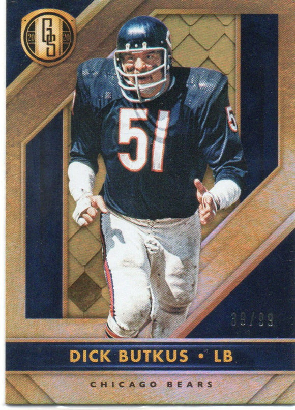 2020 Panini Gold Standard Platinum Dick Butkus /99 Chicago Bears