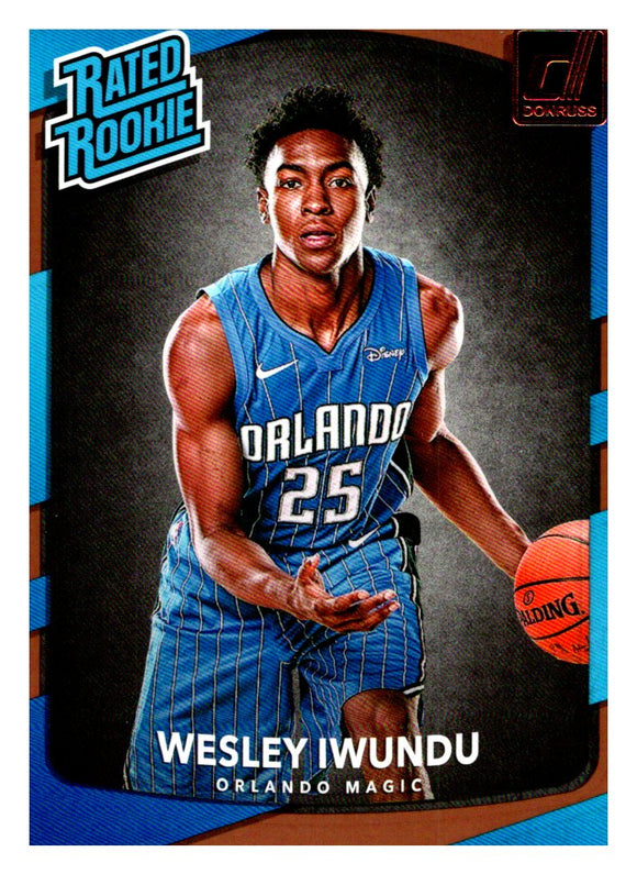 2017-18 Panini Donruss Wesley Iwundu Rated Rookie Orlando Magic