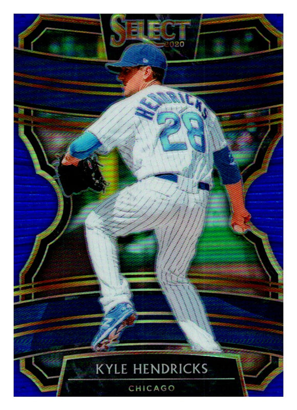 2020 Panini Select Blue Prizm /149 Kyle Hendricks Chicago Cubs