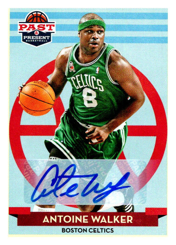 2012-13 Panini Past & Present Signatures Autograph Antoine Walker Boston Celtics