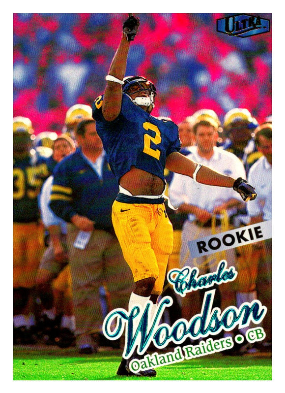 1998 Fleer Ultra Charles Woodson Rookie Card Oakland Raiders