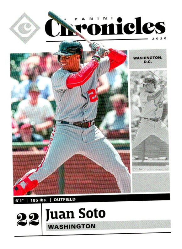 2020 Panini Chronicles Juan Soto Washington Nationals