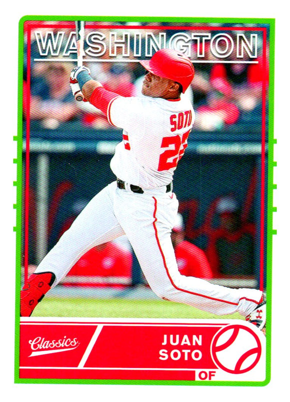2020 Panini Chronicles Classics Juan Soto Washington Nationals