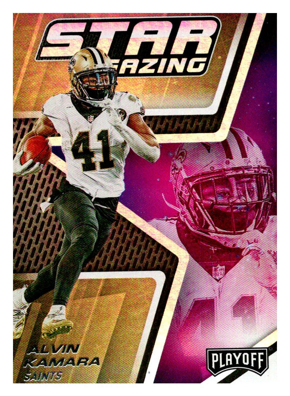 2019 Panini Playoff Star Gazing Alvin Kamara New Orleans Saints
