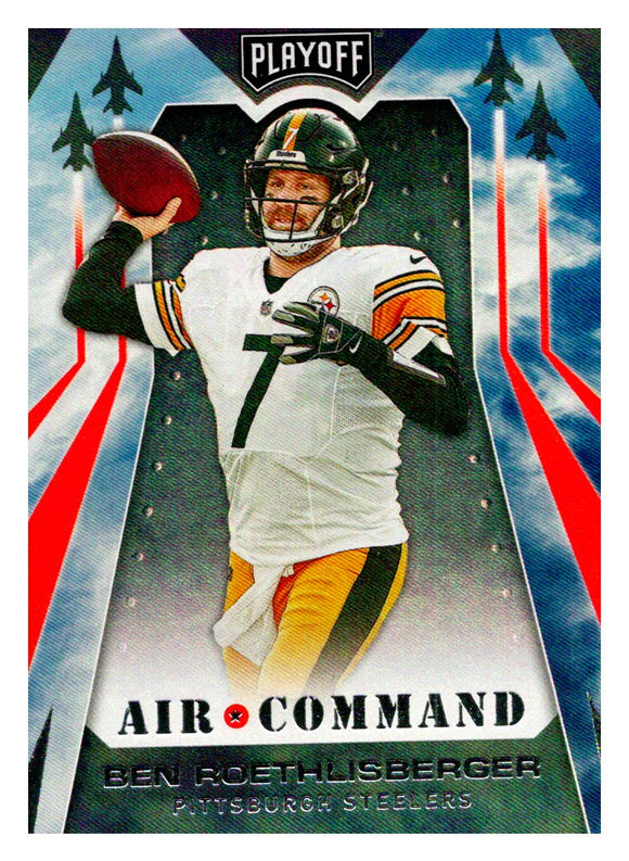 2019 Panini Playoff Air Command Foil Ben Roethlisberger Pittsburgh Steelers