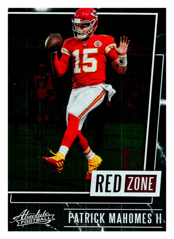 2020 Panini Absolute Red Zone Patrick Mahomes Kansas City Chiefs