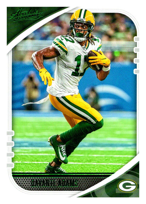 2020 Panini Absolute Green Parallel Davante Adams Green Bay Packers