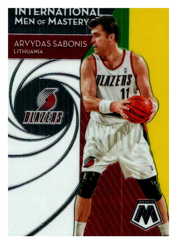 2019-20 Panini Mosaic International Men Of Mastery Arvydas Sabonis Portland Trail Blazers