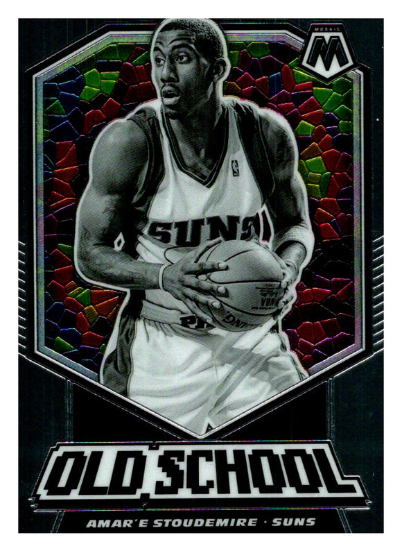 2019-20 Panini Mosaic Old School Stained Glass Amare Stoudemire Phoenix Suns