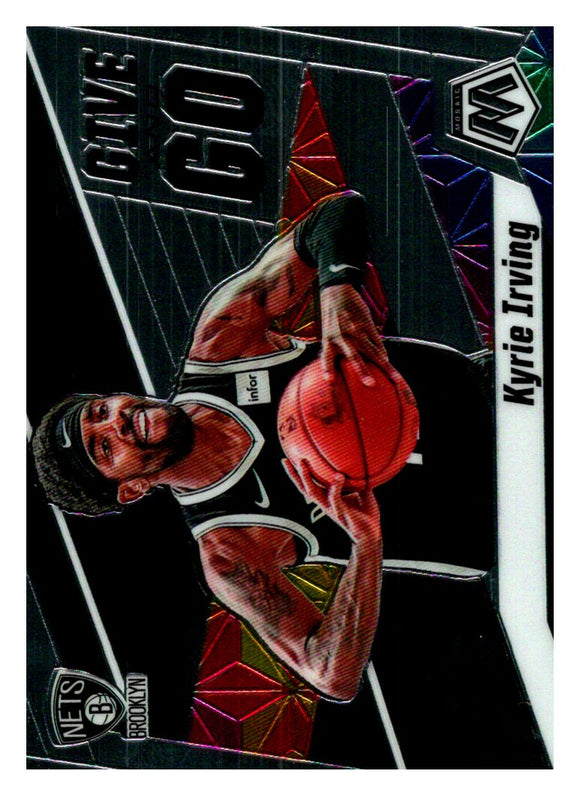 2019-20 Panini Mosaic Give And Go Kyrie Irving Brooklyn Nets