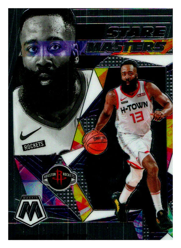 2019-20 Panini Mosaic Stare Masters James Harden Houston Rockets