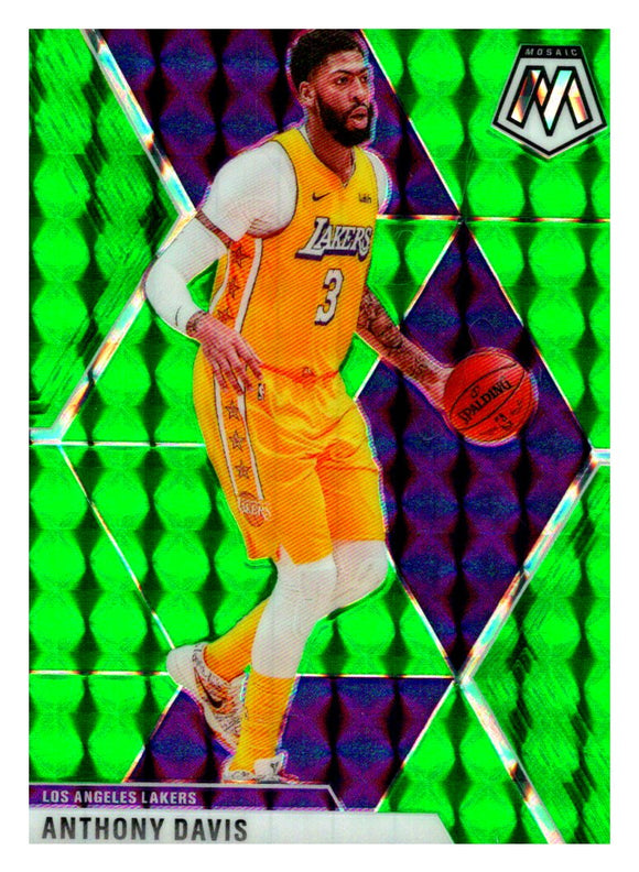 2019-20 Panini Mosaic Green Prizm Anthony Davis Los Angeles Lakers