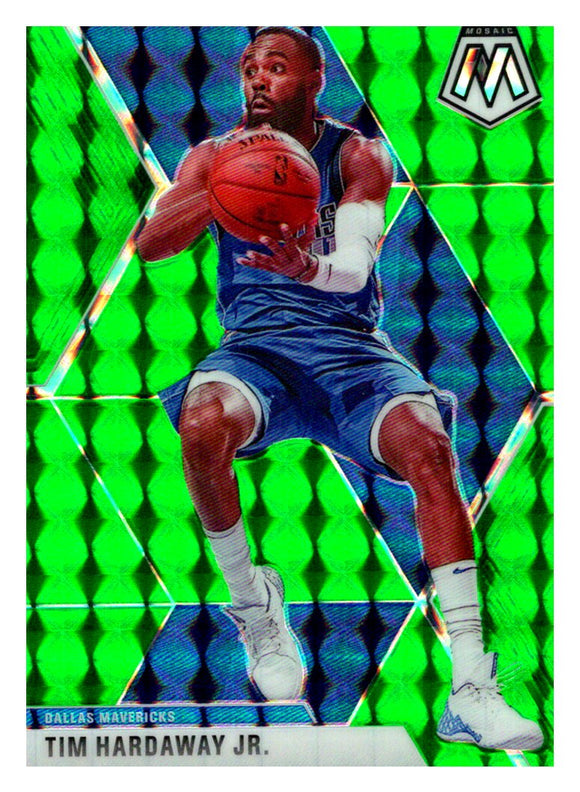 2019-20 Panini Mosaic Green Prizm Tim Hardaway Jr Dallas Mavericks
