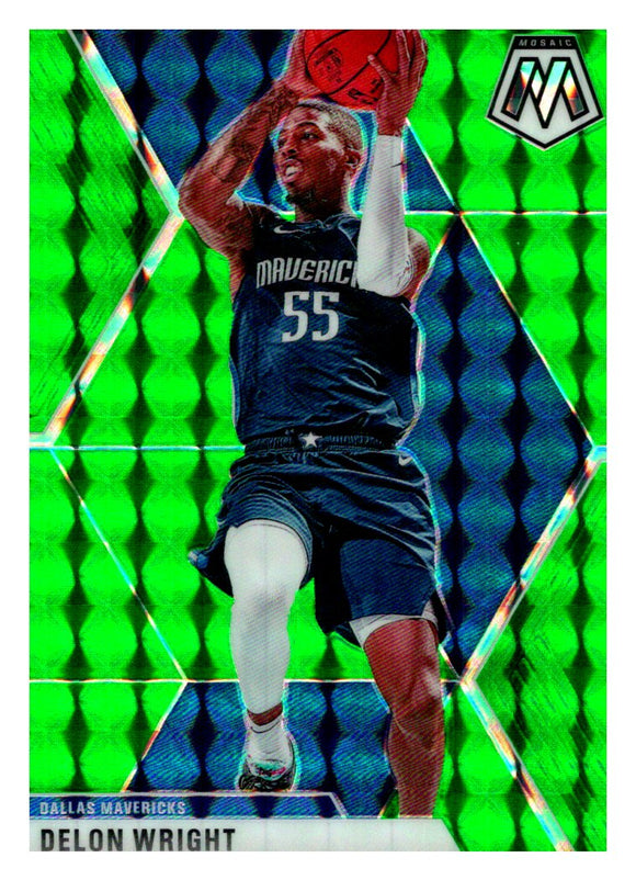 2019-20 Panini Mosaic Green Prizm Delon Wright Dallas Mavericks