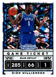 2020-21 Panini Contenders Draft Picks Variations Green Explosion Zion Williamson