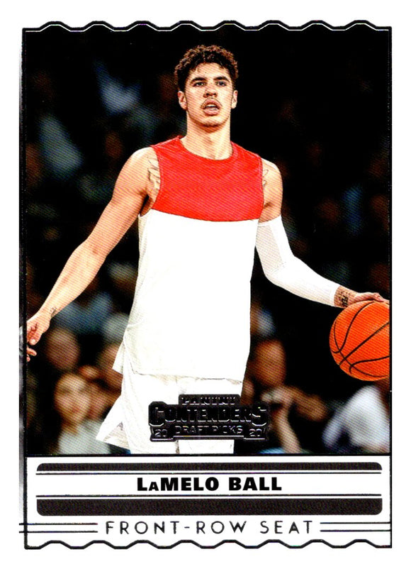 2020 Panini Contenders Draft Picks Front Row Seat Lamelo Ball Charlotte Hornets