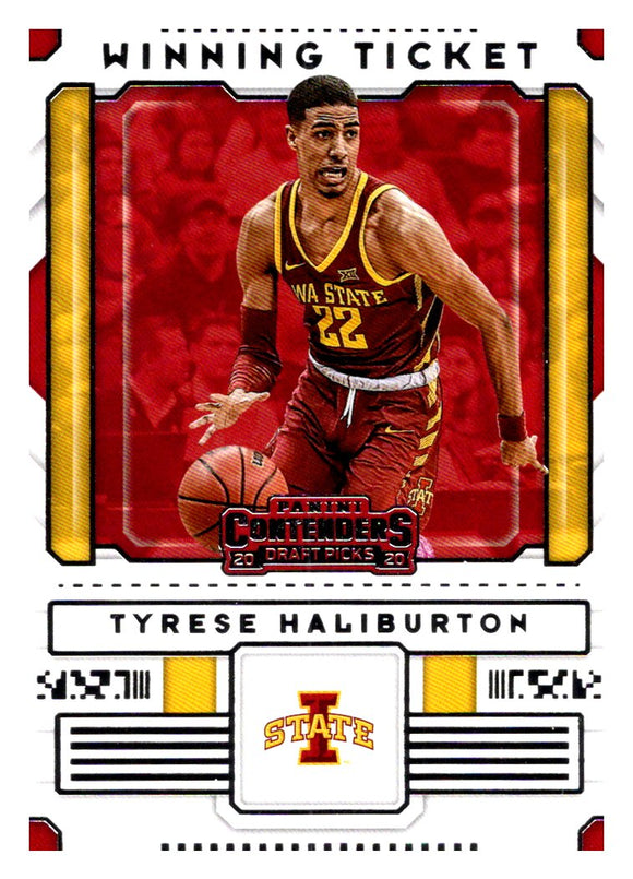 2020-21 Panini Contenders Draft Picks Winning Ticket Tyrese Haliburton Sacrament
