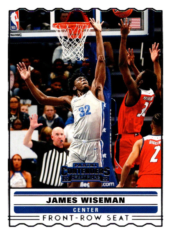 2020 Panini Contenders Draft Picks Front Row Seat James Wiseman Golden State War