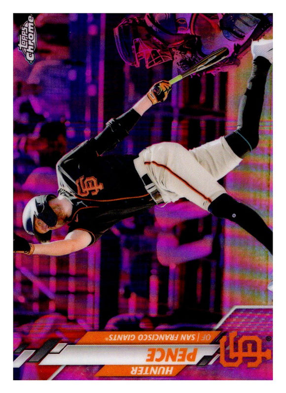 2020 Topps Chrome Update Pink Refractor Hunter Pence San Francisco Giants