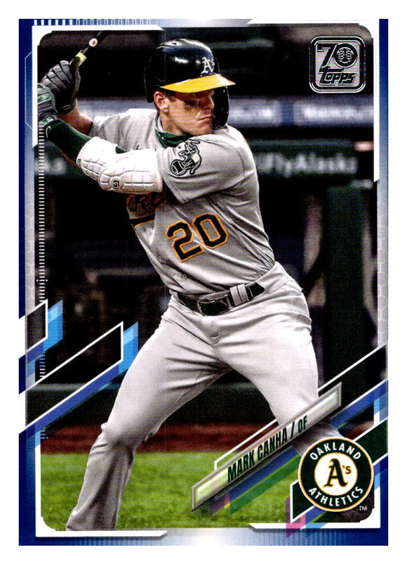2021 Topps Blue Parallel Mark Canha Oakland Athletics
