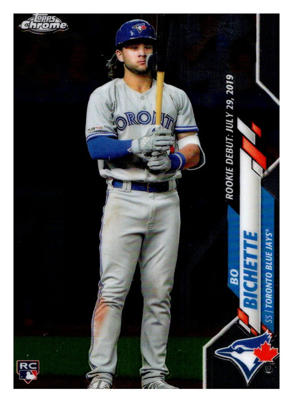 2020 Topps Chrome Update Bo Bichette Rookie Debut Toronto Blue Jays