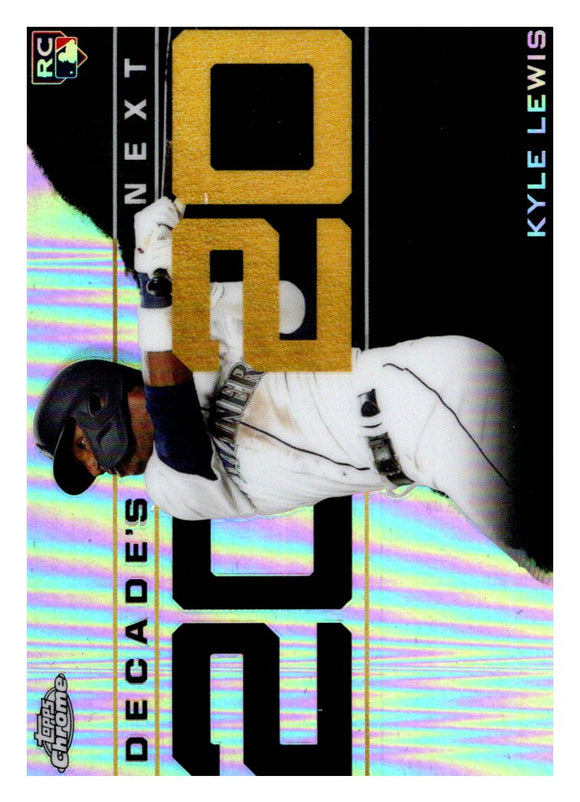 2020 Topps Chrome Decades Next Kyle Lewis Rookie Seattle Mariners
