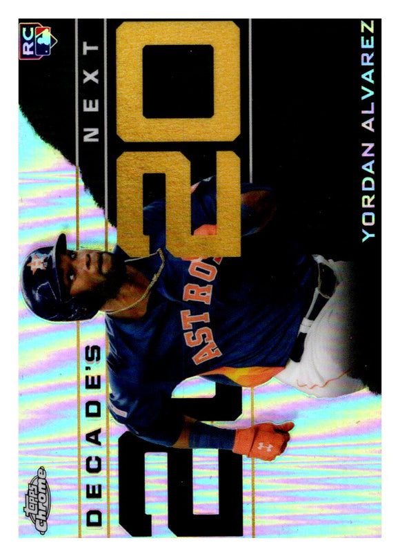 2020 Topps Chrome Decades Next Yordan Alvarez Rookie Houston Astros