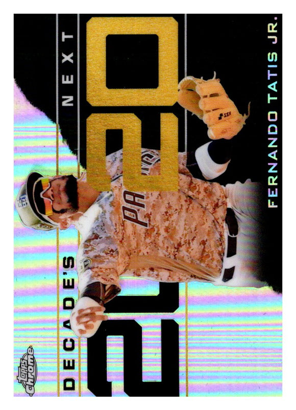 2020 Topps Chrome Decades Next Fernando Tatis Jr San Diego Padres