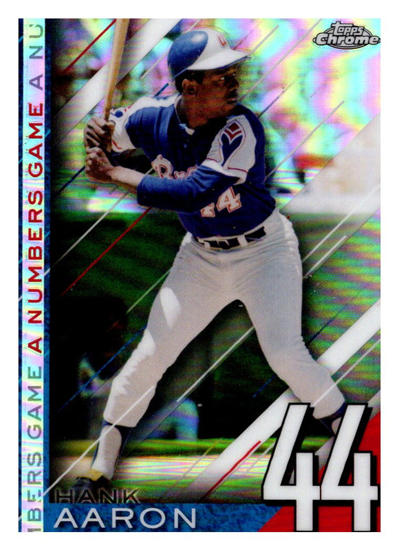 2020 Topps Chrome A Numbers Game Hank Aaron Atlanta Braves
