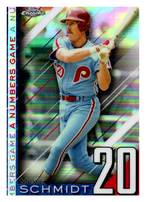 2020 Topps Chrome A Numbers Game Mike Schmidt Philadelphia Phillies