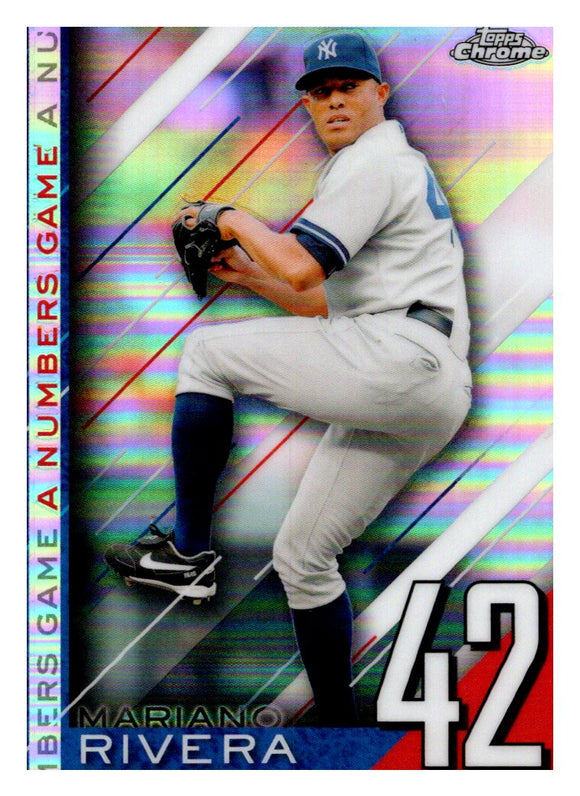 2020 Topps Chrome A Numbers Game Mariano Rivera New York Yankees