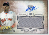 2015 Topps Triple Threads Rusney Castillo Jersey Autograph Card #D/25 Red Soxs - JM Collectibles