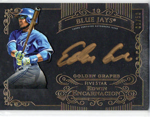 2015 Topps Five Star Edwin Encarnacion Golden Graph Auto Toronto Blue Jays #D/50 - JM Collectibles
