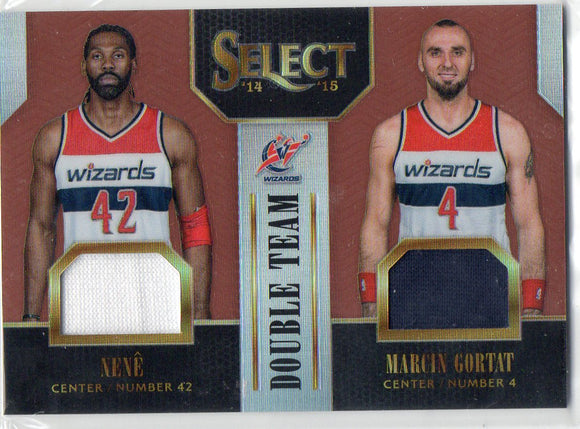 2014-15 Select Double Team Jerseys Copper Marcin Gortat & Nene /49 Wizards - JM Collectibles