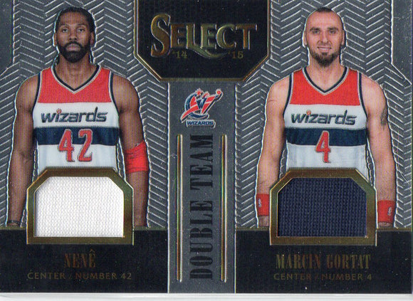 2014-15 Select Double Team Jerseys Silver Marcin Gortat & Nene /149 Wizards - JM Collectibles