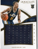 2014-15 Immaculate Collection Dante Exum Rookie Jumbo Jersey Card #D/99 Jazz - JM Collectibles