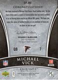 2006 Upper Deck Michael Vick Exquisite Patch Card 3CLR #D/50 Atlanta Falcons - JM Collectibles