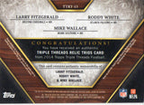 2014 Topps Triple Threads L Fitzgerald R White M Wallace Trios Relic Card #D/36 - JM Collectibles