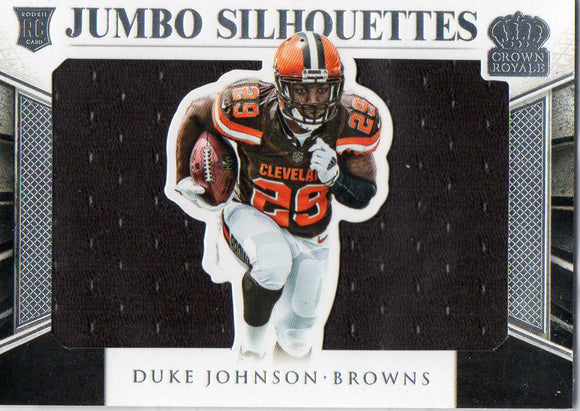 2015 Crown Royale Duke Johnson Jumbo Silhouettes Rookie Jersey Card #D/99 Browns - JM Collectibles