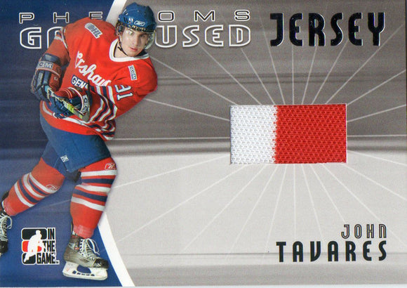 2006 In The Game John Tavares Phenoms Game Used Jersey Card New York Islanders - JM Collectibles