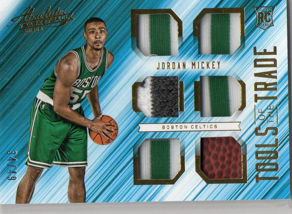 2015-16 Panini Absolute Jordan Mickey Six Piece Rookie #D/49 Boston Celtic - JM Collectibles