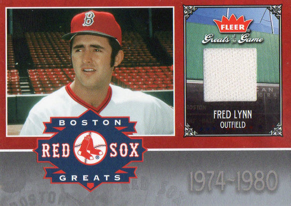 2006 Fleer Greats Of The Game Fred Lynn Game Used Pants Card Boston Red Soxs - JM Collectibles