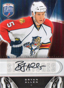 2009-10 Be A Player Bryan Allen Autograph Card Florida Panthers - JM Collectibles