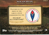 2009 Topps Legends Commemorative Patch Nolan Ryan 1972 All-Star Game - JM Collectibles